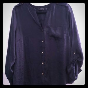 The Limited Navy Blouse Large